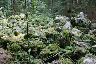 Blockfield - Boulder stream of the Kaser Steinstube near Triftern