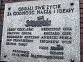 Katowice pomnik górników kopalni Wujek 33.jpg