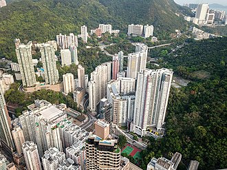 Kennedy Town - Private housing and Kwun Lung Lau