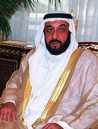 President of the United Arab Emirates - Image: Khalifa Bin Zayed Al Nahyan CROPPED