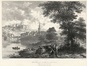 Kidwelly - Town and castle, 1831