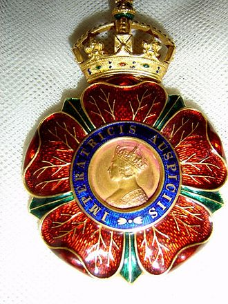 Order of the Indian Empire - Photo of Sir Mokshagundam Visvesvarayya's badge