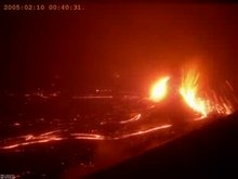 Video Time-lapse dell'eruzione effusiva laterale del Kilauea,nel 2005