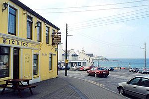 Kilkee - A view of the bay from Hickie's pub