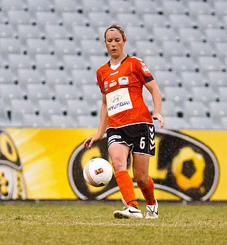 Kim Carroll (soccer) - Carroll playing for Brisbane Roar in the W-League