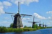Moulins de Kinderdijk en Hollande du Sud