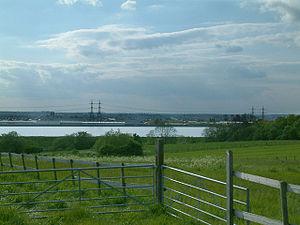 King George V Reservoir - Looking west across the reservoir