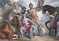 King Henry VI, part III, act II, scene III, Warwick, Edward, and Richard at the Battle of Towton (adjusted).jpg