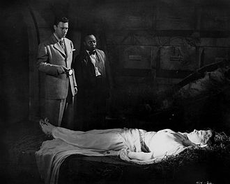 Dick Purcell - Publicity photograph with Dick Purcell, Mantan Moreland, and Patricia Stacey in King of the Zombies (1941)