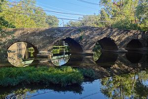 King's Highway Historic District (New Jersey) - The Kingston Bridge built 1798 to replace one destroyed by George Washington's troops to prevent British pursuit after the Battle of Princeton