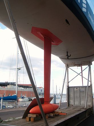 Canting keel - A canting keel on the VO 70 from Ericsson Racing Team.