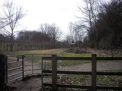 Kissing gate at Manor Park Country Park, West Malling - geograph.org.uk - 1752012