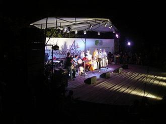 Kist people - The Kist folk ensemble Pankisi at the Art-Gene festival in Tbilisi, 2008.