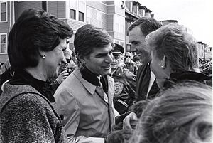 Kitty Dukakis - Dukakis (left) in c. 1987