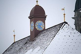 Ridge turret - Image: Kloster Einsiedeln IMG 6353