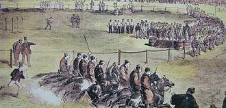 Horse racing in Japan - Samurai on horseback at Yokohama