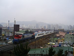 Gyeongjeon Line - A train on the Gyeongjeon Line in March 2009