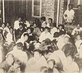 Koreans under the protections of Japanese Police Station, being anxious of the Chinese revenge.jpg