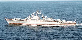 Krivak-class frigate - Soviet Burevestnik M-class guided missile frigate Pytlivyy