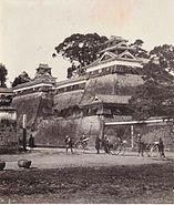 Kumamoto Castle oldphoto 1874