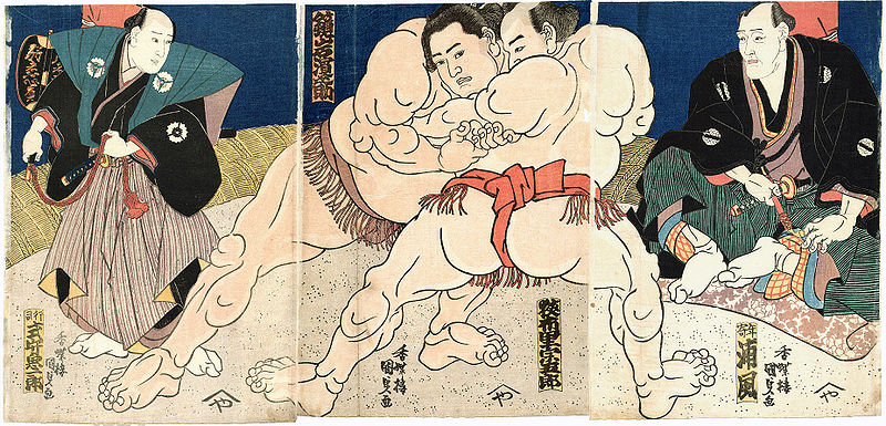 File:Kunisada Sumo Triptychon c1860s.jpg