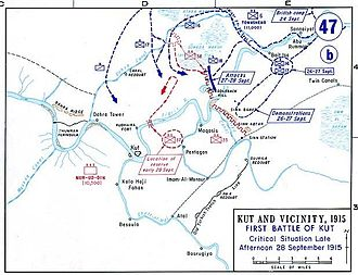Siege of Kut - Situation at Kut on 28 September 1915.