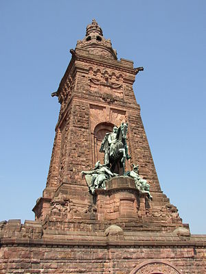 Kyffhäuser Monument - Main tower and equestrian statue of Emperor William I