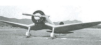 Mitsubishi A5M - First prototype with inverted gull wing