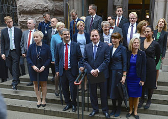 Stefan Löfven - Stefan Löfven and his Cabinet on 3 October 2014.