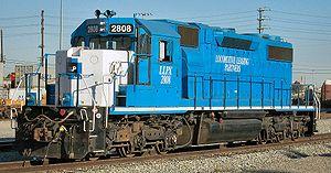 EMD SD38-2 - LLPX 2808 in February 2005