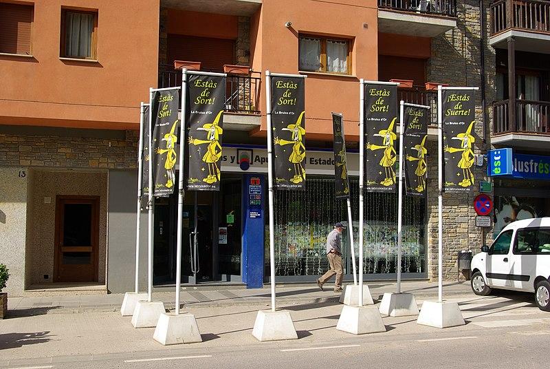 Lottoladen Bruixa d'Or in Sort, Spanien