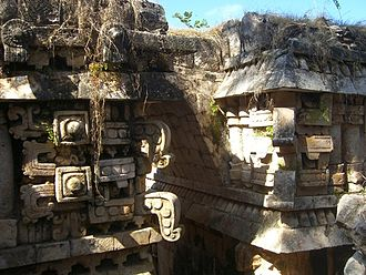 Ancient Maya art - Labna, Palace, vaulted passage