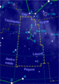 Lacerta constellation map-fr.png
