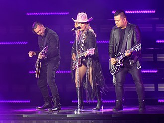 "A-Yo (Lady Gaga song) - Gaga performing ""A-Yo"" during the Joanne World Tour"