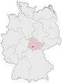 Lage der kreisfreien Stadt Suhl in Deutschland.png