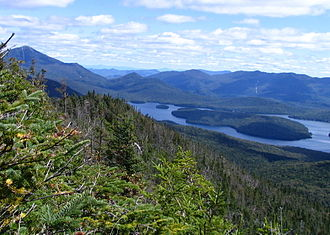 McKenzie Mountain - Image: Lake Placid and Whiteface Mountain from Mc Kenzie Mtn