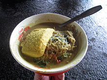Bogor Laksa Topped With Yellow Tofu