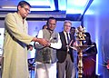 "Lal Bihari Himirika lighting the lamp inaugurate the National Conclave on ""Nourishing India's Tribal Children"" organised by Ministry of Tribal Affairs, UNICEF and Govt. of Odisha, at Bhubaneswar on January 15, 2015.jpg"