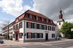 the old city hall of Lampertheim (Hesse, Germany)
