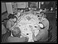 Lancaster Co., PA. Enos and Herbert Royer and farm hands eat dinner, Royer farm, 1938 by Sheldon Dick.jpg