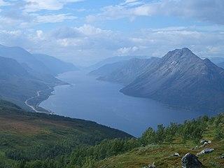 Langfjorden (Alta) fjord in Alta, Norway