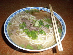 Beef noodle soup - Lanzhou Beef Noodles, with clear soup and hand-pulled noodles