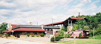 Latrobe, Pennsylvania - Latrobe Railroad Station (1903) National Register of Historic Places