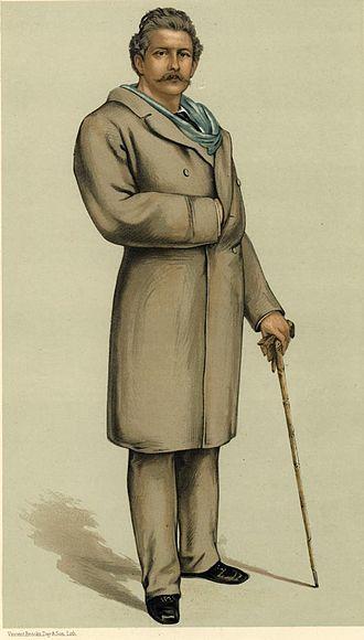 """Charles Bennett Lawes - As depicted by """"VER"""" (François Verheyden) in ''VanityFair'', 12 May 1883"""