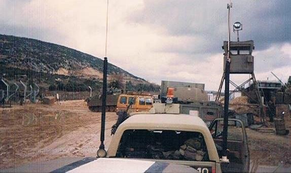 Lebanon armed convoy near kibbutz zarhit