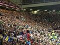 Leeds Rhinos fans celebrate their 2009 Super League victory.jpg