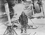 Leigh Brintnell outside his Fokker Super-Universal airplane (27017701320).jpg