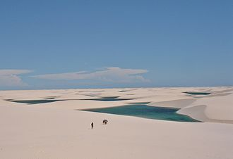 Lençóis Maranhenses National Park - Panorama of the Lençóis Maranhenses lagoons