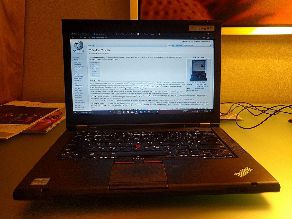 File Lenovo Thinkpad T430 Jpg Wikimedia Commons