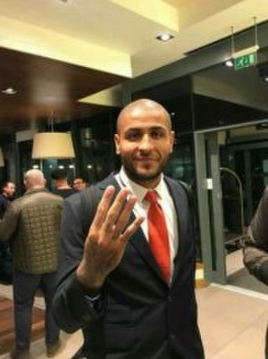 Leon Clarke - Clarke after scoring all 4 goals for Sheffield United in the 4-1 win against Hull City in 2017